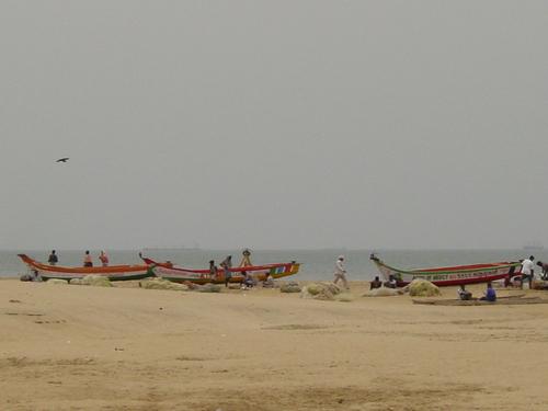 Chennai_boats_on_the_beach