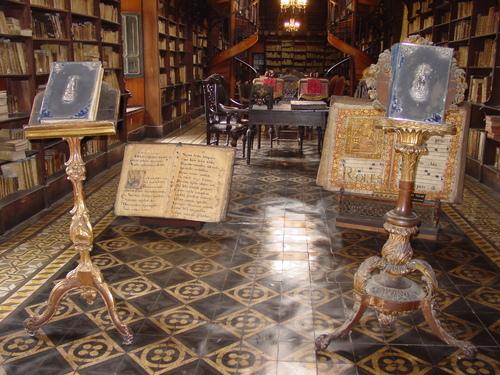 Lima_monestary_of_saint_francisco_librar